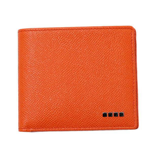 トッズ TOD'S レザー ウォレット 折財布 [小銭入れなし] オレンジ [メンズ] XAMLETC03Z0DOU G803