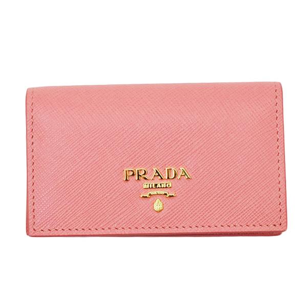 プラダ PRADA SAFFIANO METAL レザー 名刺入れ カードケース ピンク [レディース] 1MC122 2D93 F0442 PETALO