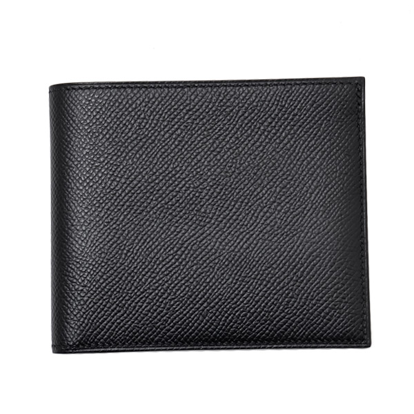 エルメス HERMES MC2・コペルニクス レザー 折財布 [小銭入れなし] ブラック [メンズ] H043013CA BLK 刻印『D』