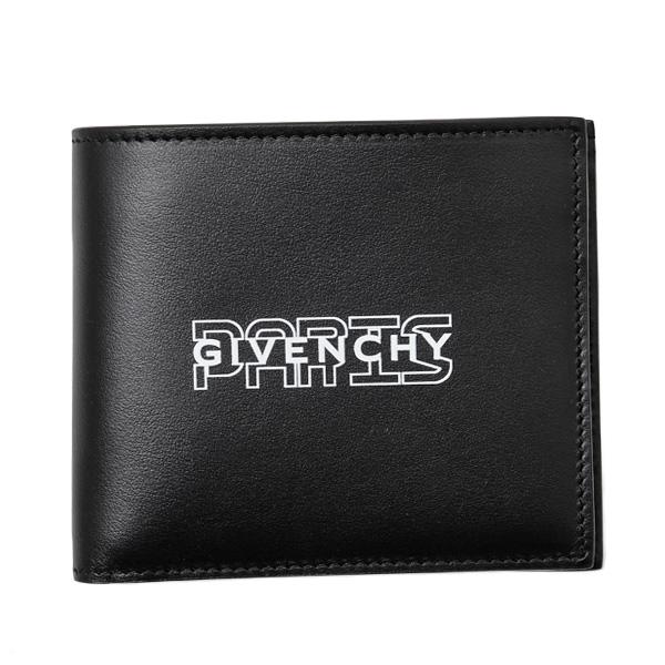 ジバンシー GIVENCHY レザー ウォレット 折財布 [小銭入れなし] ブラック [メンズ] BK60005 K0S1 004