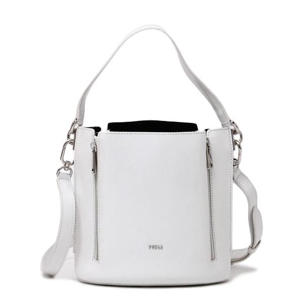フルラ FURLA FOR MINI BUCKET BAG レザー 2WAY ハンドバッグ ショルダー ホワイト [レディース] BAAC NPK 01B TALCO h 1056070
