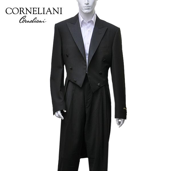 コルネリアーニ CORNELIANI ウール モーニングコート ブラック 礼装 [メンズ] 657C00 008080 20