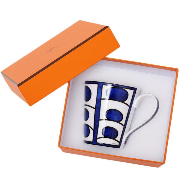エルメス HERMES ブルーダイユール 青と白の物語 マグカップ シングル 240ml 食器 陶器 ホワイト×ブルー 030138【●D11】