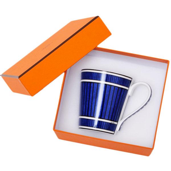 【お買い物マラソン】エルメス HERMES ブルーダイユール 青と白の物語 マグカップ シングル 240ml 食器 陶器 ホワイト×ブルー 030238【●D11】