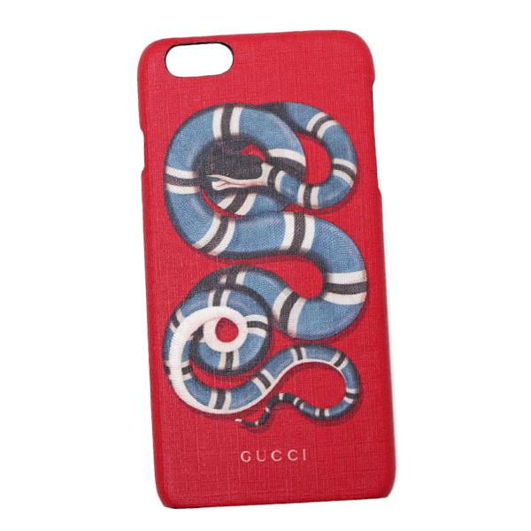 グッチ GUCCI スネークプリント iPhone6s plus用 スマホ ケース カバー レッド 454312 K7AO0 8465