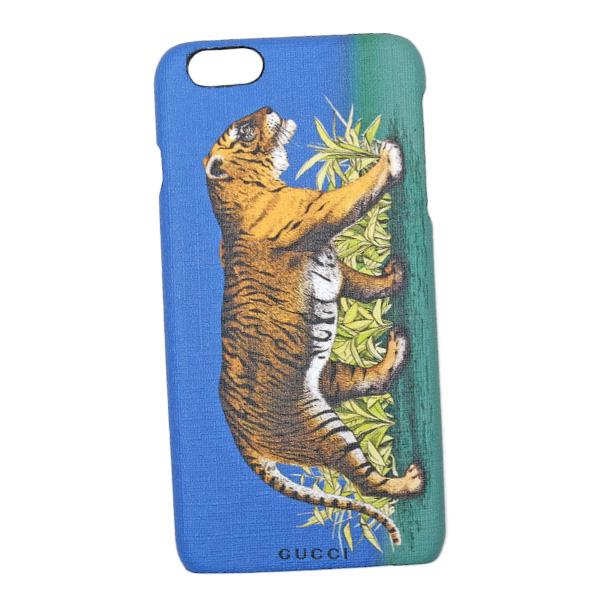 グッチ GUCCI タイガープリント iPhone6s plus用 スマホ ケース カバー ブルー×グリーン 454312 K69O0 9862