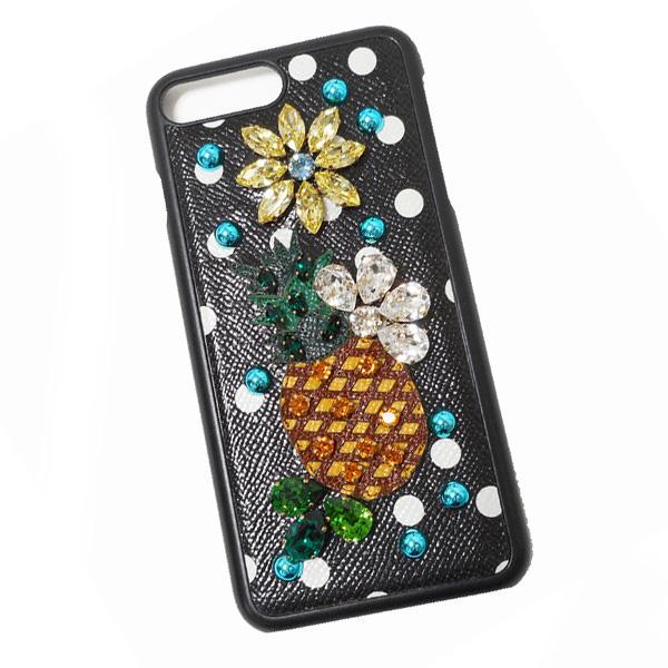 ドルチェ&ガッバーナ ドルガバ DOLCE&GABBANA iPhone7 plus用 スマホ ケース カバー ブラック系 BI2236 AI000 HN86W