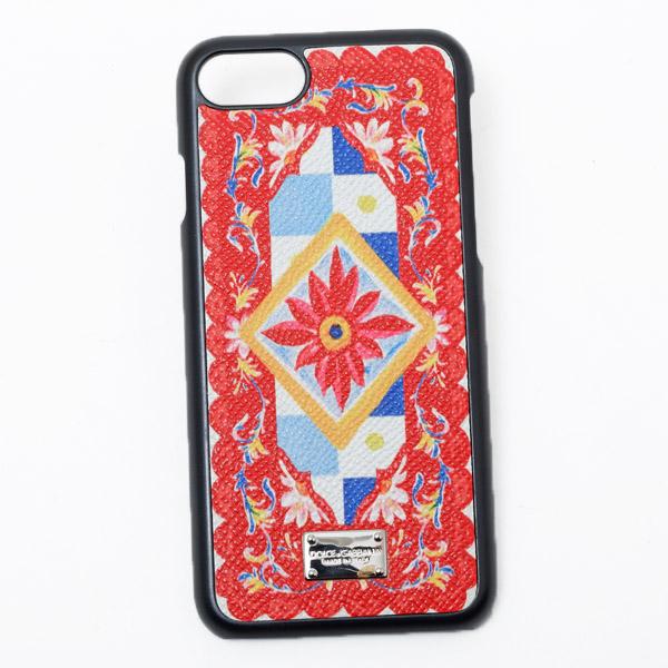 ドルチェ&ガッバーナ ドルガバ DOLCE&GABBANA iPhone7用 スマホ ケース カバー レッド系 BI2235 AC597 HW680