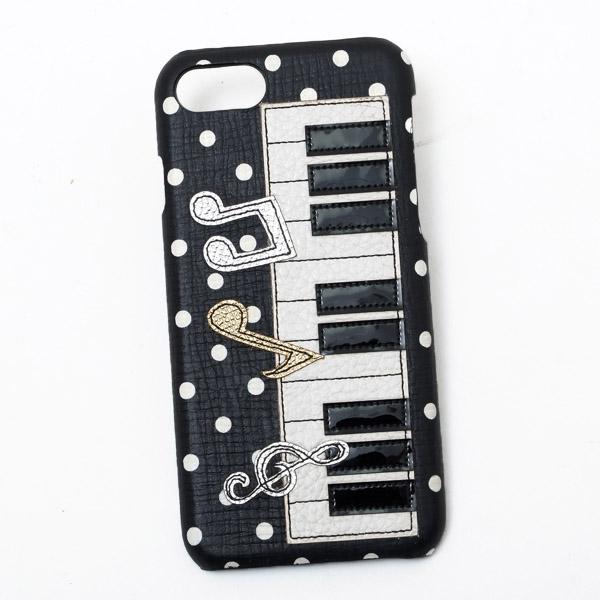 ドルチェ&ガッバーナ ドルガバ DOLCE&GABBANA iPhone7用 スマホ ケース カバー ブラック系 鍵盤 BP2237 AI136 HN28W
