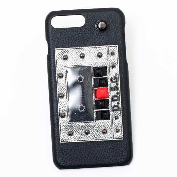 ドルチェ&ガッバーナ ドルガバ DOLCE&GABBANA iPhone7plus用 スマホ ケース カバー ブラック系 D.D.S.G. BP2238 AI134 8S574【※】