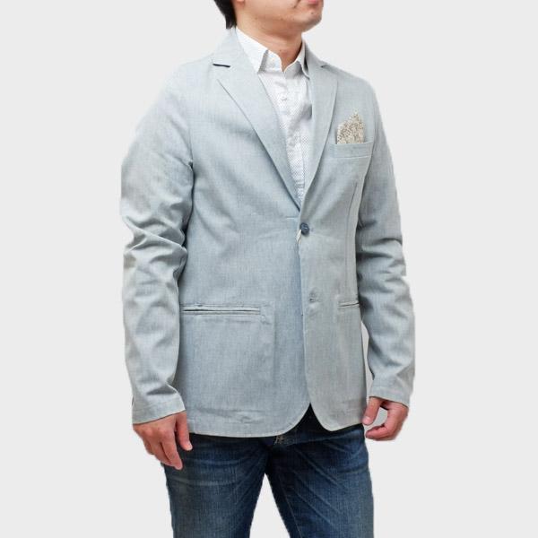 【サイズM】ファイバー fiver コットン 2釦 ジャケット ライトグレー系 [メンズ] G50418 E7 999 VAR UNICA