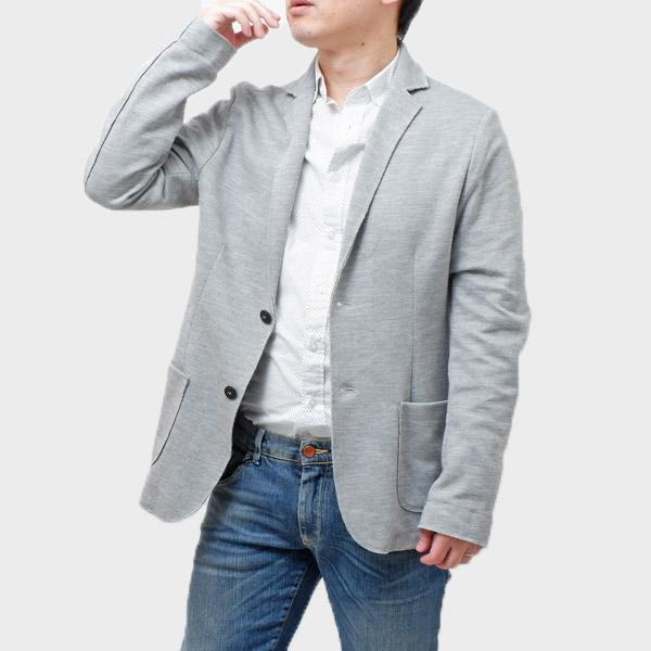 【サイズM】ファイバー fiver コットン混 2釦 ジャケット グレー系 [メンズ] G50621 E8 300 GR【通常価格29,160円→SALE価格12,800円】【JK】