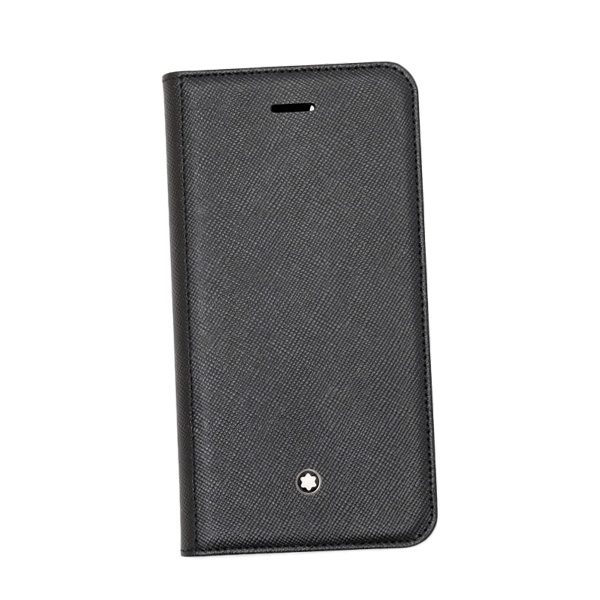 【あす楽】モンブラン MONTBLANC iPhone8用 レザー スマホ ケース フリップサイドカバー ブラック 118473