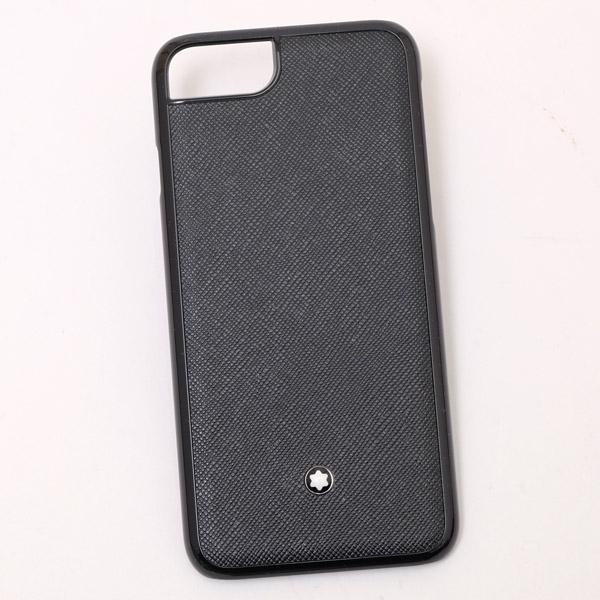 モンブラン MONTBLANC iPhone8用 レザー スマホ ケース カバー ブラック 118411【MBPT】