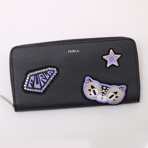 フルラ FURLA FAVOLA XL ZIP AROUND ラウンドファスナー 長財布 ブラック PAQ5 E35 O60 ONYX 977901