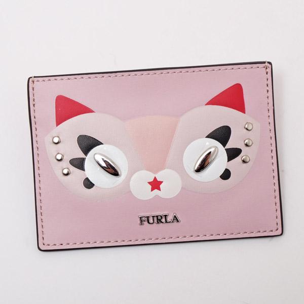 フルラ FURLA GINGER S CREDIT CARDCASE ネコモチーフ カードケース ピンク PAK1 VF0 35B TONI CAME 977826