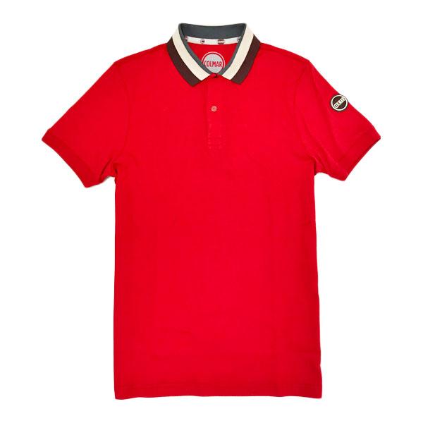 コルマー COLMAR コットン 半袖 ポロシャツ レッド [メンズ] 7627 3SV 193