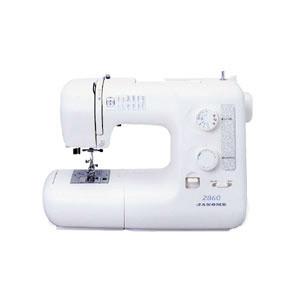 【送料無料】ジャノメミシン(JANOME)蛇の目電子ミシン(model)2860≪純正白色フットコントローラー付≫