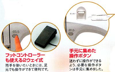 ロックミシン、職業用ミシンコーナー>ロックカッター内臓、ジャノメ電子ミシン縫い切る「N778型」