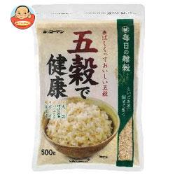 送料無料 【2ケースセット】キッコーマン 五穀で健康 500g×12袋入×(2ケース) ※北海道・沖縄は別途送料が必要。