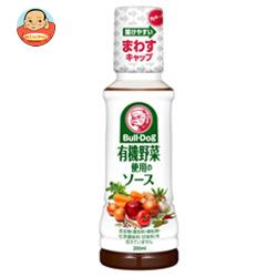【送料無料】【2ケースセット】ブルドックソース 有機野菜使用のソース 200mlペットボトル×10個入×(2ケース) ※北海道・沖縄は別途送料が必要。