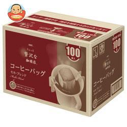 AGF ちょっと贅沢な珈琲店 レギュラー・コーヒー コーヒーバッグ モカ・ブレンド 7g×100P×6箱入