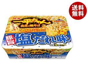 送料無料 明星食品 一平ちゃん夜店の焼そば 豚旨塩だれ味 132g×12個入 ※北海道・沖縄・離島は別途送料が必要。