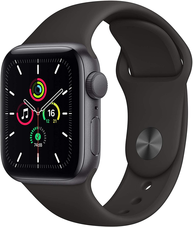 アップルウォッチ SEシリーズ お気に入 GPS対応 Apple Watch SE GPSモデル 40mm A MYDP2LL 黒 スポーツバンド 当店限定販売 スペースグレーアルミケース 新品 1年保証 スマートウォッチ本体