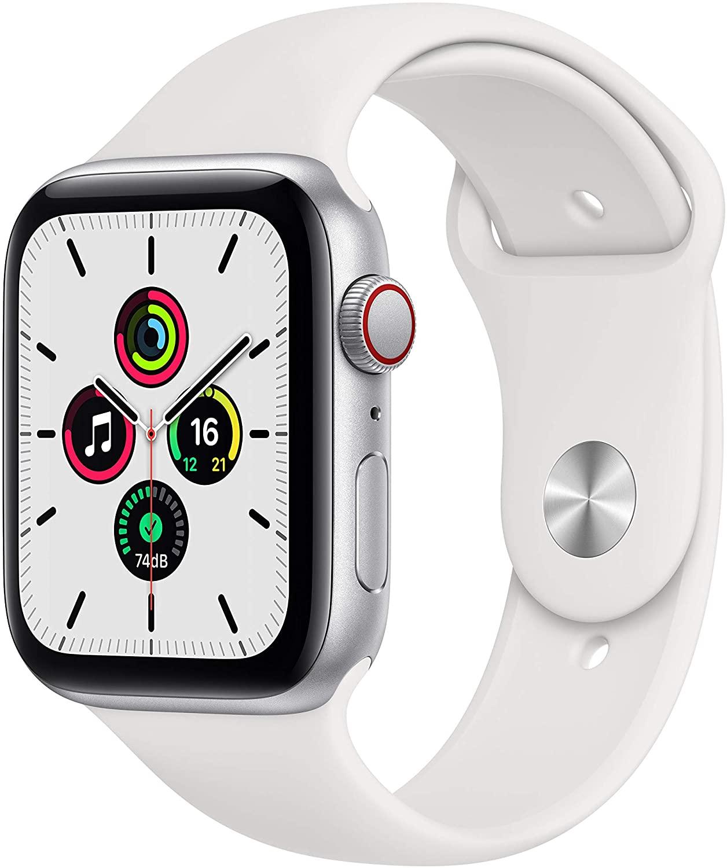 アップルウォッチ 輸入 SEシリーズ GPS対応 Apple Watch SE GPSモデル 40mm スマートウォッチ本体 新品 MYDM2LL 訳あり商品 1年保証 スポーツバンド A シルバーアルミケース 白