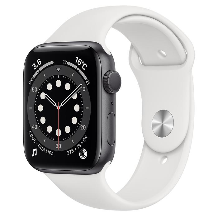 アップルウォッチ セール品 シリーズ6 GPS対応 Apple Watch GPS 44mm アルミケース 1年保証 M00D3LL 評判 白 スマートウォッチ本体 新品 スポーツバンド A