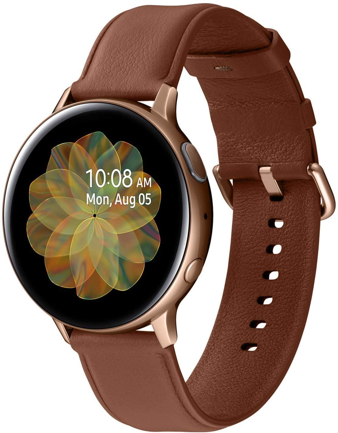 サムスン ギャラクシーウォッチ Bluetooth対応 Samsung Galaxy Watch 70%OFFアウトレット NEW売り切れる前に☆ Active 2 R820 1年保証 ゴールド 新品 ステレンスベゼル 44mm スマートウォッチ本体