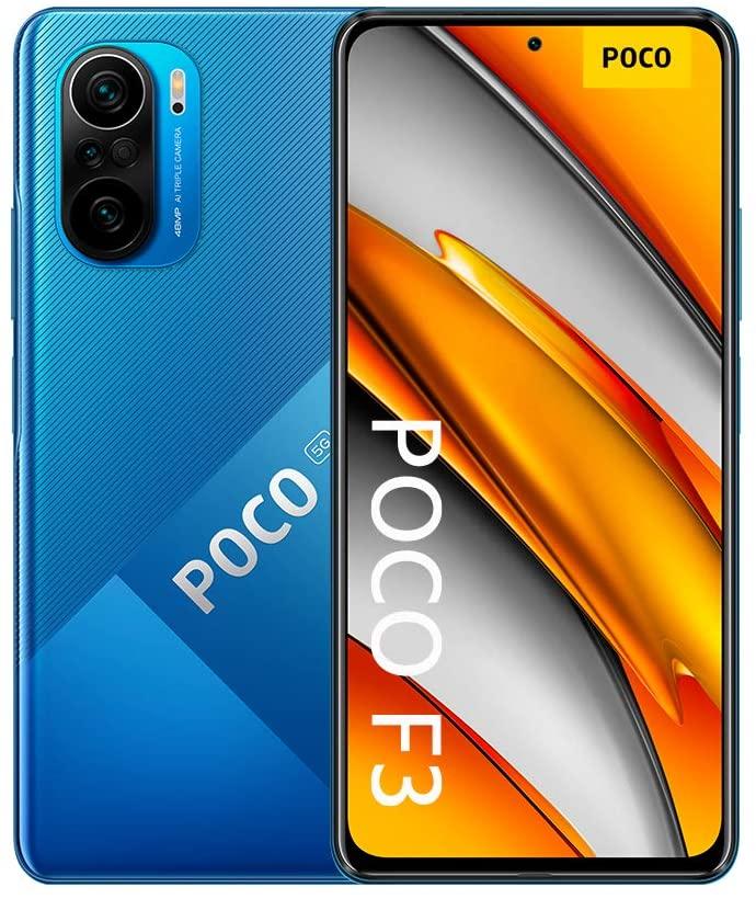シャオミ 信用 小米 ポコエフスリー SIMフリースマホ Xiaomi Poco F3 Dual Sim 激安挑戦中 青 6GB 1年保証 RAM 128GB SIMフリースマホ本体 新品 5G