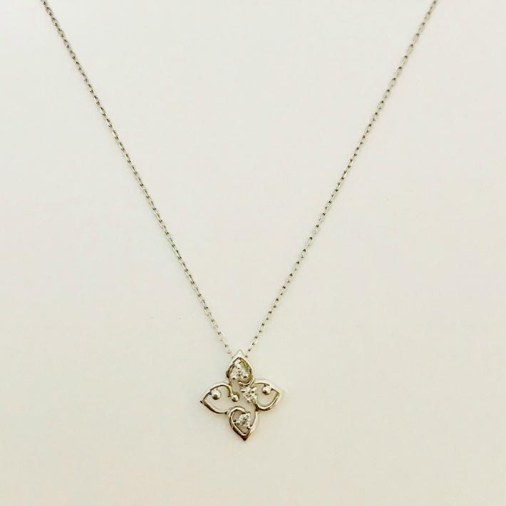 送料無料 現品限り 超特価 10金 K10ホワイトゴールド ダイヤモンドネックレス ダイヤモンドペンダント 509815