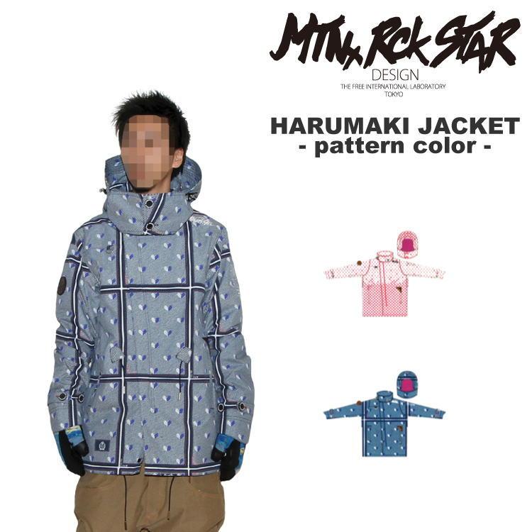 【65%OFF】MTN.ROCK STAR [マウンテンロックスター] HARUMAKI JACKET -patternカラー- ウェア スノーボード セール ジャケット  【送料無料】【代引手数料無料】【smtb-k】【ky】
