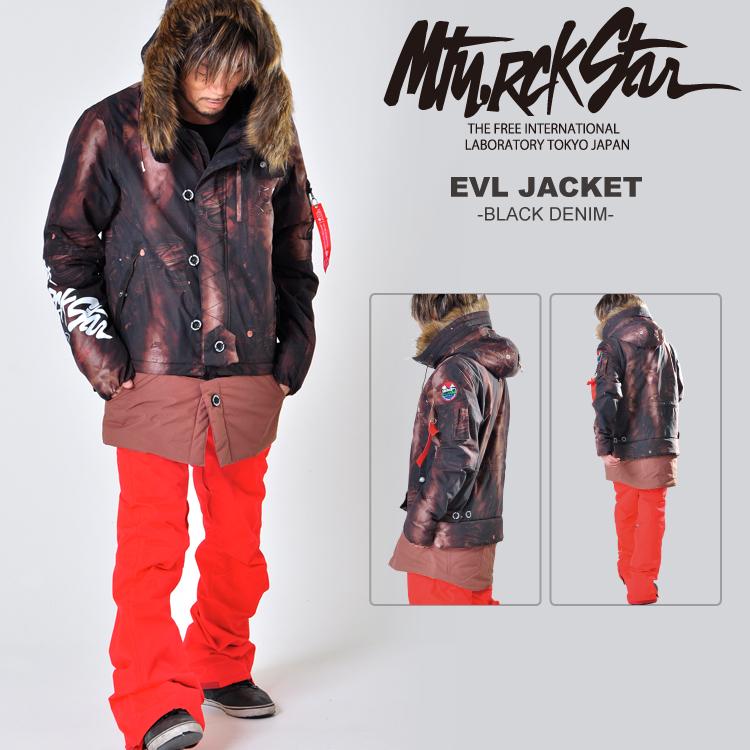14-15 MTN,ROCK STAR [マウンテンロックスター] EVL JACKET -BLACK DENIM- / 50%OFF割引セール 【送料無料】【代引手数料無料】【smtb-k】【ky】