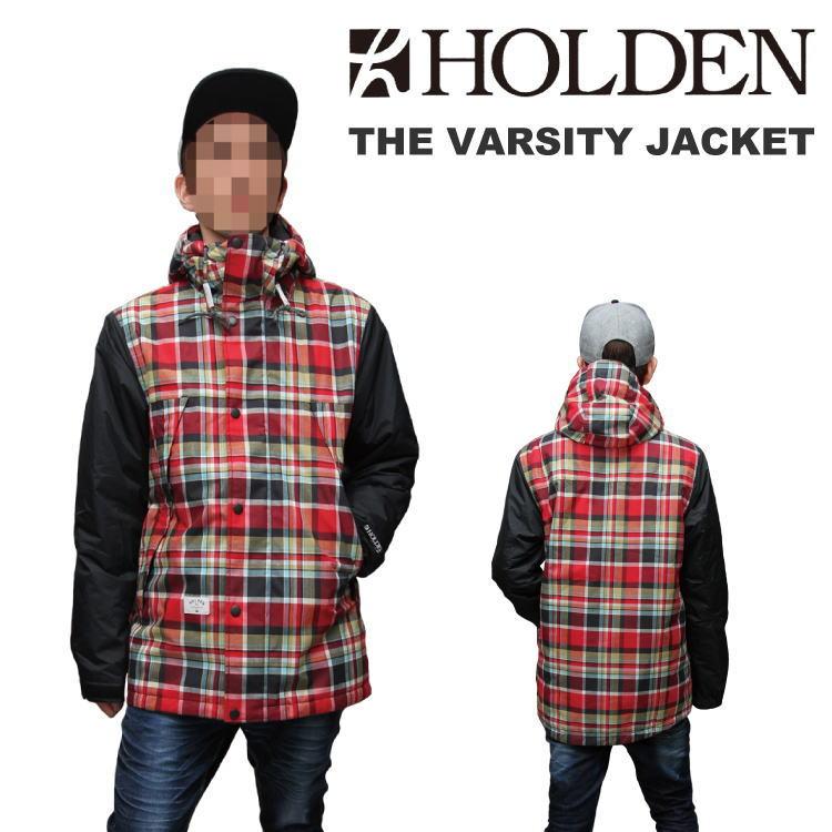 【即納】14-15 HOLDEN (ホールデン) THE VARSITY JACKET -BLACK/RED PLAID- 60%OFF割引セール (ウェア) 【日本正規品】【送料無料】【smtb-k】【ky】