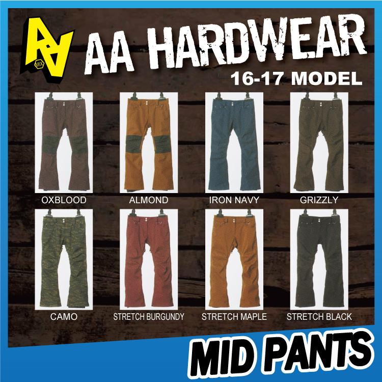 【即納】16-17 AA HARDWEAR(ダブルエーハードウェア)MID PANTS / [SALE 40%OFF]【送料無料】【代引き手数料無料】