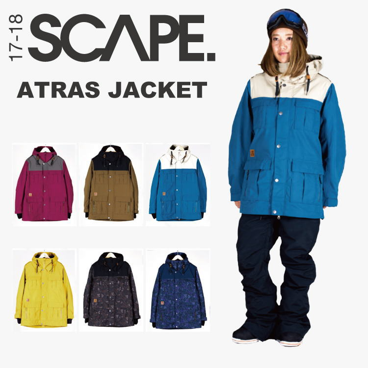 【40%OFF】SCAPE (エスケープ) ATRAS JACKET / スノーボードウェア レディースジャケット 【送料無料】【代引手数料無料】【正規品】