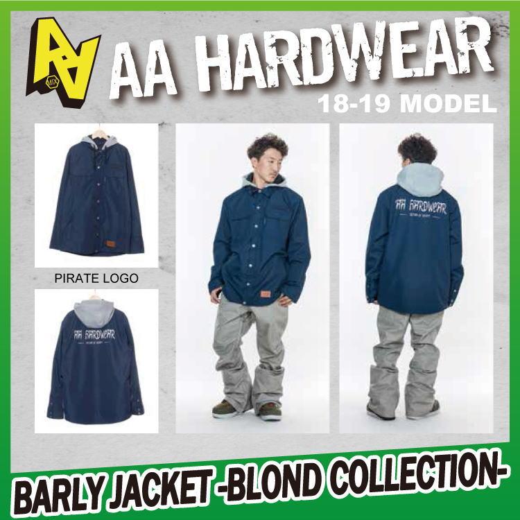 18-19 AA HARDWEAR(ダブルエーハードウェア) BARLY JKT -PIRATE LOGO- [BLOND COLLECTION] 【送料無料】【代引き手数料無料】【日本正規品】