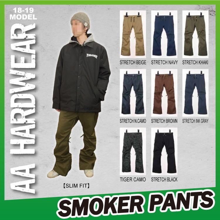 【即納】18-19 AA HARDWEAR(ダブルエーハードウェア) SMOKER PANTS / 早期割引10%OFF 【送料無料】【代引き手数料無料】【日本正規品】
