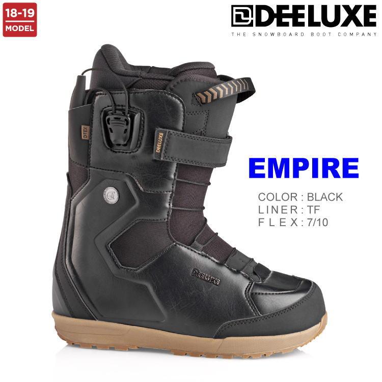 【即納】18-19 DEELUXE (ディーラックス) EMPIRE TF -BLACK- / 早期割引20%OFF 【送料無料】【代引手数料無料】【正規品】