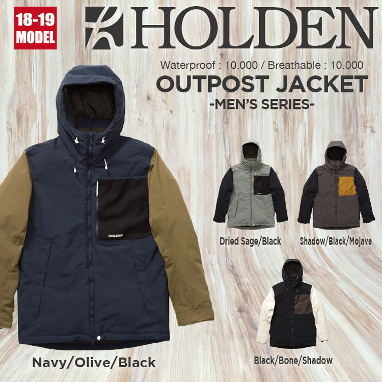 18-19 HOLDEN (ホールデン) M's OUTPOST JACKET / 早期予約割引10%OFF (ウェア) 【送料無料】【代引き手数料無料】【日本正規品】