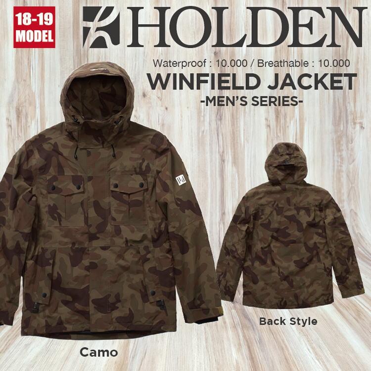 【即納】18-19 HOLDEN (ホールデン) M's WINFIELD JACKET [Camo] / 早期割引15%OFF (ウェア) 【送料無料】【代引き手数料無料】【日本正規品】