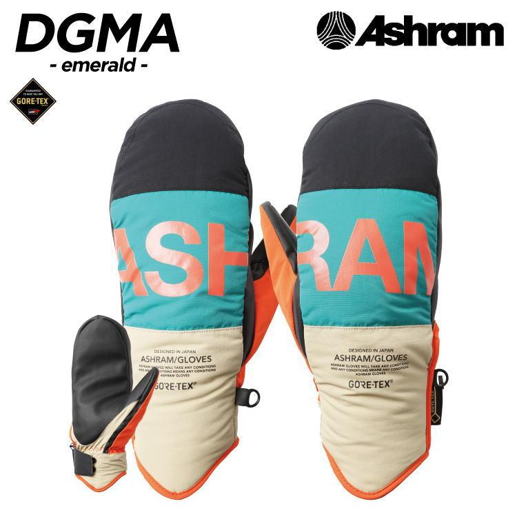 【即納】19-20 ASHRAM GLOVES (アシュラムグローブ) DGMA -emerald- / 早期割引10%OFF [GORE-TEX][正規品]