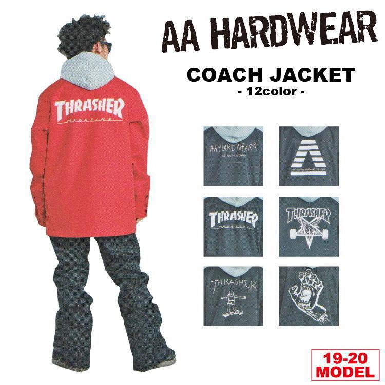 19-20 AA HARDWEAR(ダブルエーハードウェア) COACH JACKET [スラッシャーコーチ] / 早期予約割引10%OFF 【送料無料】【代引き手数料無料】【日本正規品】