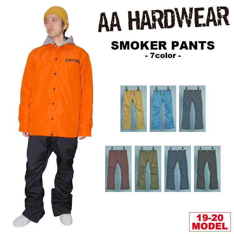 19-20 AA HARDWEAR(ダブルエーハードウェア) SMOKER PANTS / 早期予約割引10%OFF 【送料無料】【代引き手数料無料】【日本正規品】