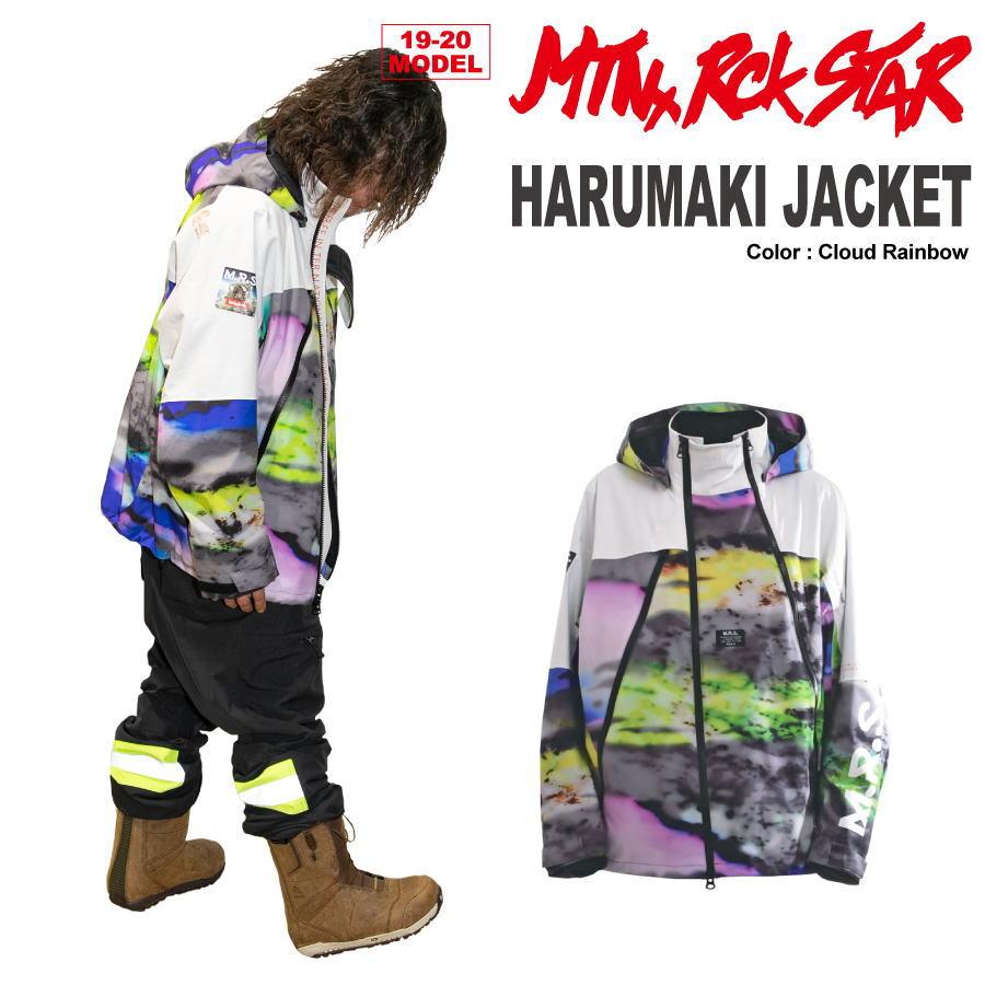 【35%OFF】マウンテンロックスター / 19-20 MTN.ROCK STAR HARUMAKI JACKET [Cloud Rainbow] スノーボード ウェア ジャケット 上下セットご購入でグローブプレゼント 【送料無料】【代引手数料無料】【日本正規品】