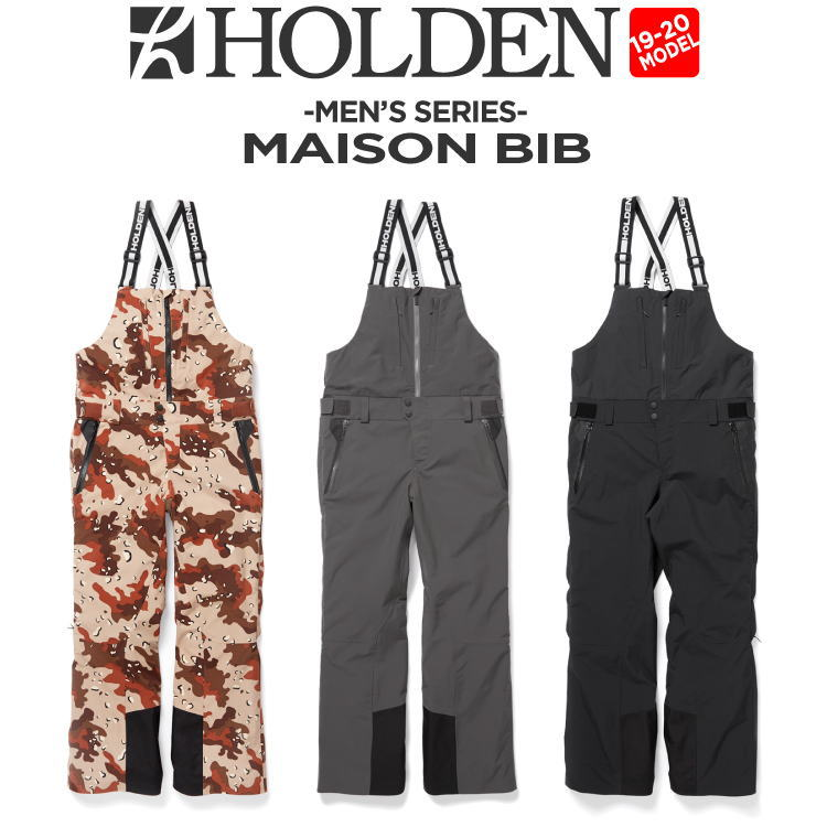 【20%OFF】19-20 HOLDEN (ホールデン) M's MAISON BIB スノーボード ウェア パンツ ビブパン【送料無料】【代引き手数料無料】【日本正規品】
