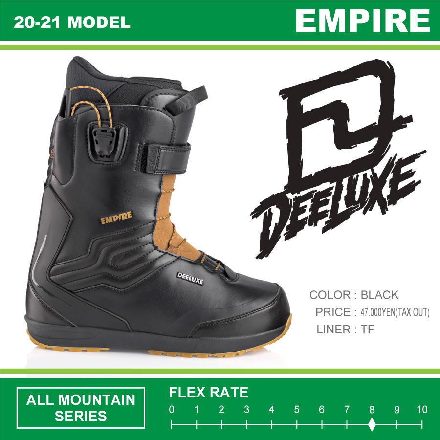 20-21 DEELUXE (ディーラックス) EMPIRE TF (エンパイア) -BLACK- / 早期予約割引10%OFF (スノーボードブーツ) 【送料無料】【代引手数料無料】【正規品】