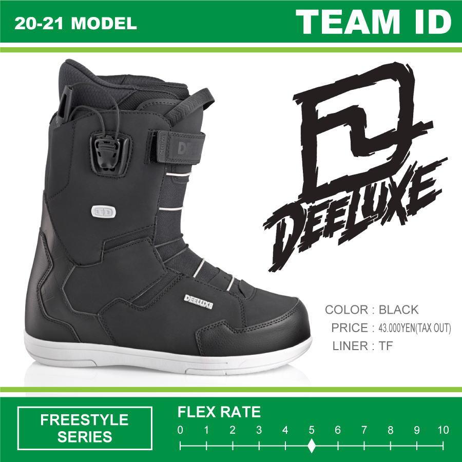 20-21 DEELUXE (ディーラックス) TEAM ID TF (チームアイディー) -BLACK- / 早期予約割引10%OFF (スノーボードブーツ) 【送料無料】【代引手数料無料】【正規品】
